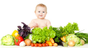 vegetable and baby