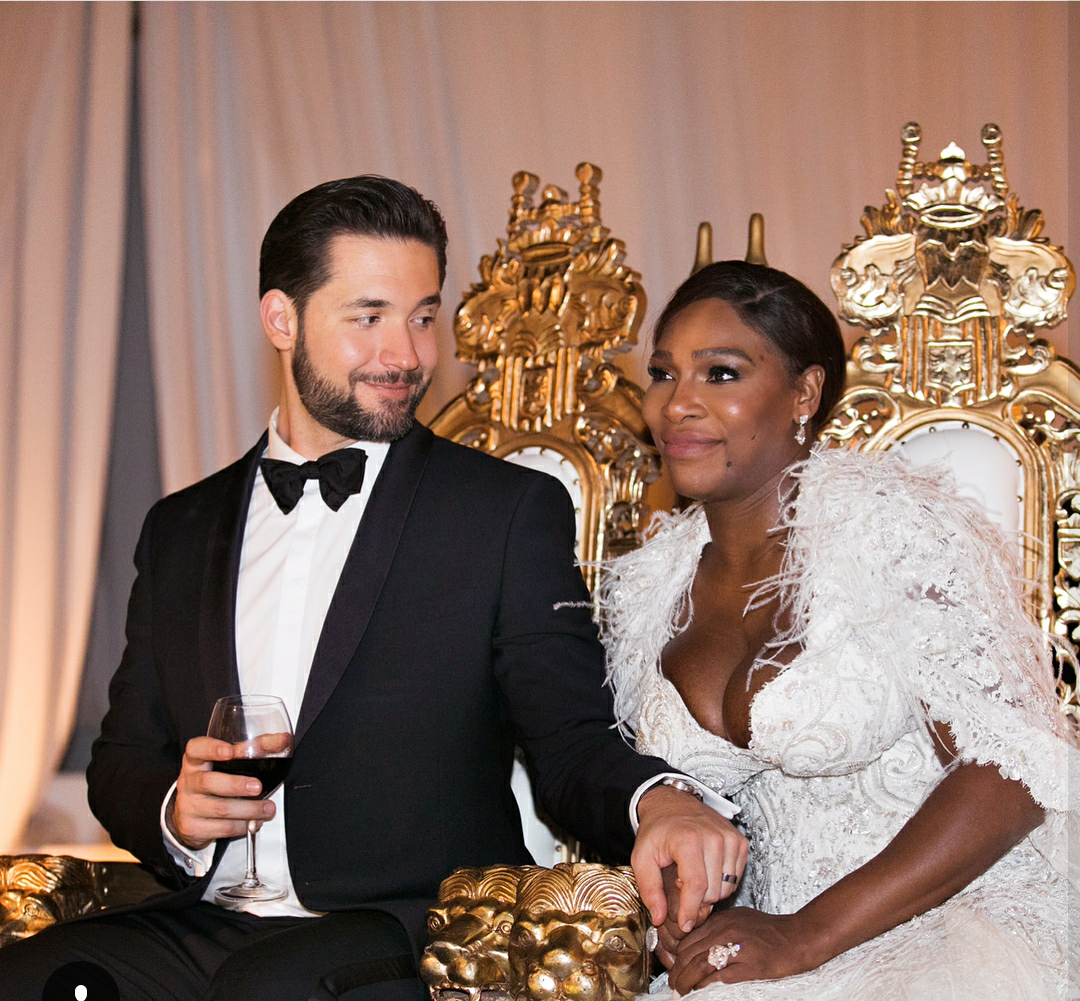serena william marriage pic