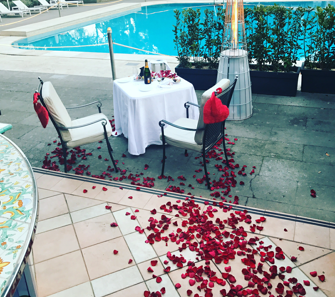 serena william proposal table